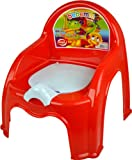 RED CHILDRENS POTTY CHAIR EASY CLEAN KIDS TODDLER TRAINING TOILET SEAT BOYS GIRLS