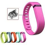 Aktivität- und Schlaf-Armband Ersatzarmband für Fitbit Flex mit Clasp ohne Tracker Groß/Klein (Large, Rosa)