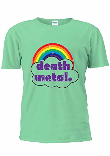 Cute Death Metal rainow Funny Colorful T-Shirt Unisex uomo donna Ladies Top