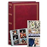 3-ring pocket BURGUNDY album for 504 photos - 4X6