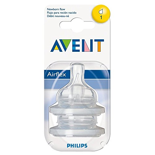 Avent Airflex Silicone Teats - Newborn 1 Hole 0Mth+ (2)