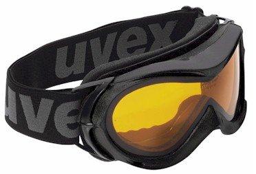 "Uvex - Maschera ""Hurricane"" da sci, snowboard, neve, colore: Nero"