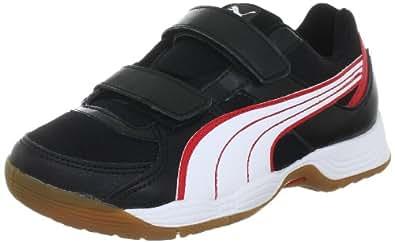 Puma Vellum III V Jr 102662, Unisex-Kinder Handballschuhe, Schwarz (black-white red 02), EU 28 (UK 10) (US 11)
