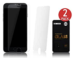 2 x Lilware Tempered Glass Screen Protector for Apple iPhone 6. Two Glass Protectors Included. Extremely Durable and Anti-Scratch Front Screen Protector. Transparent
