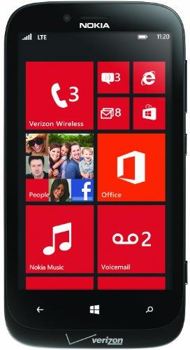 Nokia 822 4G Windows Phone, Black (Verizon Wireless)