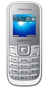 Samsung E1200 Mobile Phone O2 Pay As You Go / Pre-Pay/ PAYG (Including £10 Airtime) - White