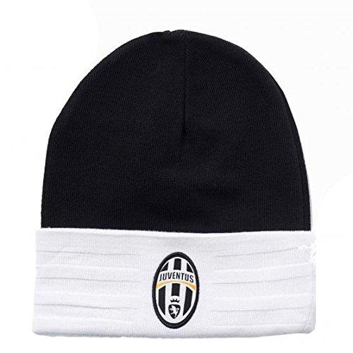 adidas-casquettes-bonnets-chapeaux-bonnet-juventus-fc-3-bandes-noir-hommes