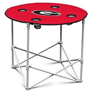 NCAA Georgia Bulldogs Round Tailgating Table by Logo