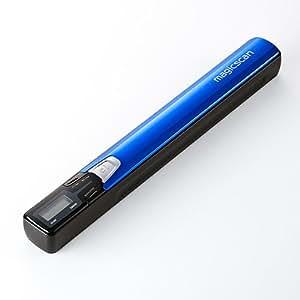 サンワダイレクト ハンディスキャナ A4 自炊対応 OCR機能 ハンディスキャナー ブルー 400-SCN012BL