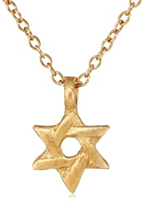 "Satya Jewelry ""Classics"" Mini Star of David Necklace, 18"""