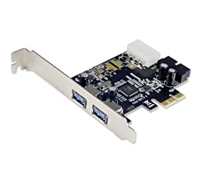 Syba SD-PEX20122 2 Port USB 3.0 with 19 Pin Header PCI-E x1 Card