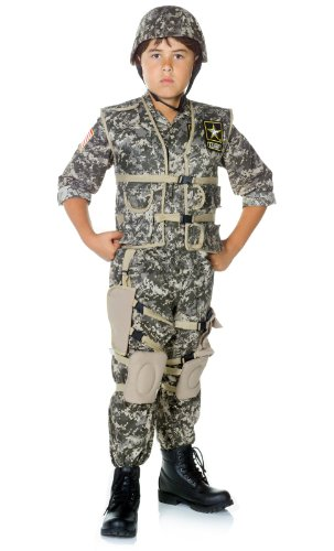 Lets Party By Underwraps U.S. Army Ranger Deluxe Child Costume / Green - Size Large