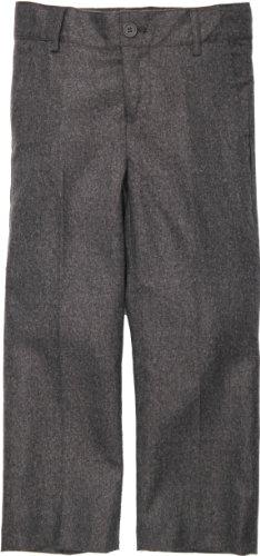 Armani Martillo Boys Flat Front Slim Fit Mock Wool Dress Pants - 604Ps - Heather Gray, 8 Slim front-654144