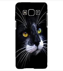 ColourCraft Cat Face Design Back Case Cover for SAMSUNG GALAXY A3
