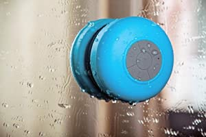 Waterproof Portable Wireless Bluetooth 3.0 Mini Speaker 3W Shower Pool Car Handsfree with Microphone for Apple iPhone 4 4S 5 5S 5C S4 iPad iPod MP3 MP4 Tablet PC (Blue)