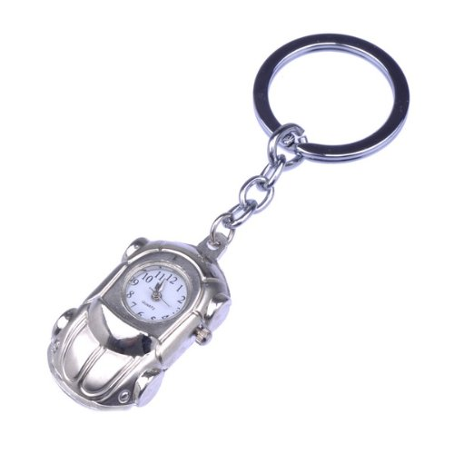 Bestdealusa Nice Mini Roadster Car Shape Keychain Steel Watch