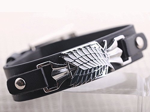 Letshopping Attack on Titan Wings of Liberty Personalized Bracelet