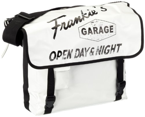 Frankie's Garage Unisex - Adults T10980912-200-010 Messenger Bag White EU