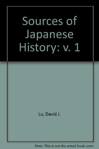 Sources of Japanese History: v. 1 PDF