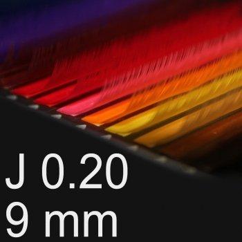 Boite Extensions De Cils Couleur - Courbure J - (Epaisseur 0.20Mm Longeur 9Mm)