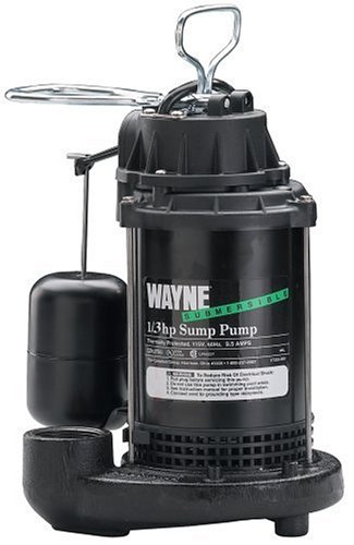 Wayne CDU790 1/3-Horsepower Cast Iron Submersible Sump Pump