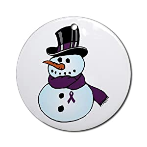 Pancreatic Cancer Awareness Christmas Ornament (Ro