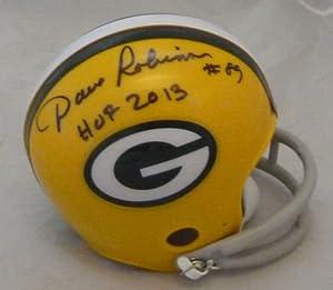 Dave Robinson Autographed Green Bay Packers Mini Helmet w HOF 2013 by DenverAutographs