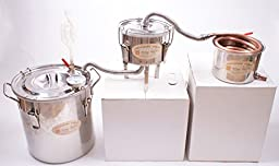 3 Pots DIY 8 Gal 30 Litres Copper Alcohol Moonshine Ethanol Still Spirits Boiler Water Distiller