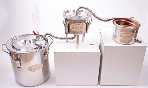 3 Pots DIY 3 Gal 12 Litres Copper Alcohol Moonshine Ethanol Still Spirits Boiler Water Wine Distiller (Spice Boiler compare prices)