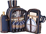 "Search : Tremont Four Person Picnic Set (Navy) (14""H x 12""W x 7""D)"