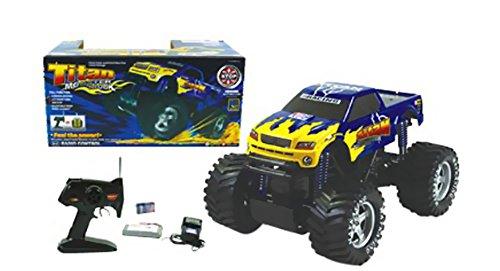 """Azimporter Preschool Children Activity Playset 14.5"""" Titan Monster Demolition Derby Truck Blue front-564954"""