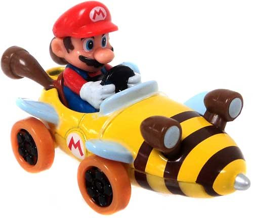 Mario Kart Tomy Ertl Die Cast Mini Figure Mario in Bee Kart