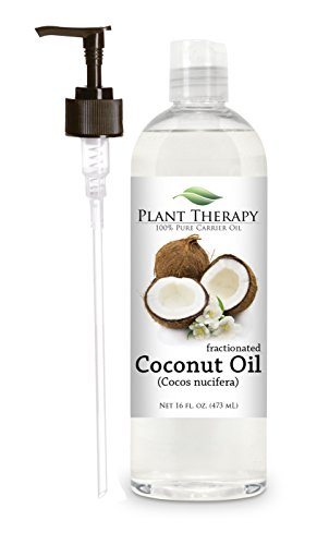 Coconut (Fractionated) Carrier Oil + PUMP. A Base Oil for Aromatherapy, Essential Oil or Massage use.