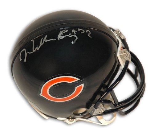 Autographed/Hand Signed William Perry Chicago Bears Mini Helmet front-597977
