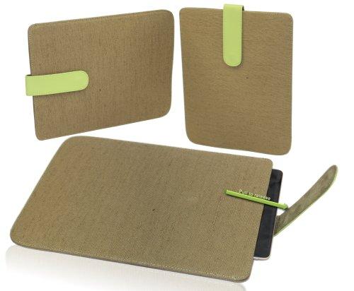 Navitech grünes Hemp Case mit zieh Slaufe für das Samsung Galaxy Tab 7.0 Plus P6200 / Samsung Galaxy Tab 2 7.0 P3100 / P3110 / Samsung Galaxy Tab 3 7.0 P3200