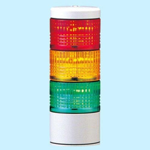 パトライト LED薄型小型積層信号灯シグナル・タワー(直付け)赤黄緑 LES-302AW-RYG