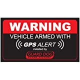 Warning Vehicle GPS Alarm (Bumper Sticker)