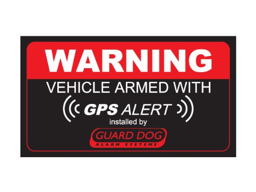 Warning Vehicle Gps Alarm Bumper Sticker Panic Sos