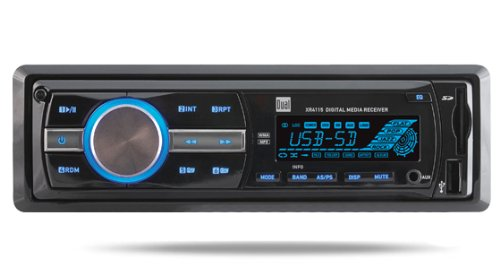 Dual XR4115 In-Dash MP3, WMA Mechless Digital Media Receiver with USB, 3.5mm and SD Card Inputs