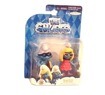 The Smurfs, Movie Figure 2-Pack, Smurfette & Brainy