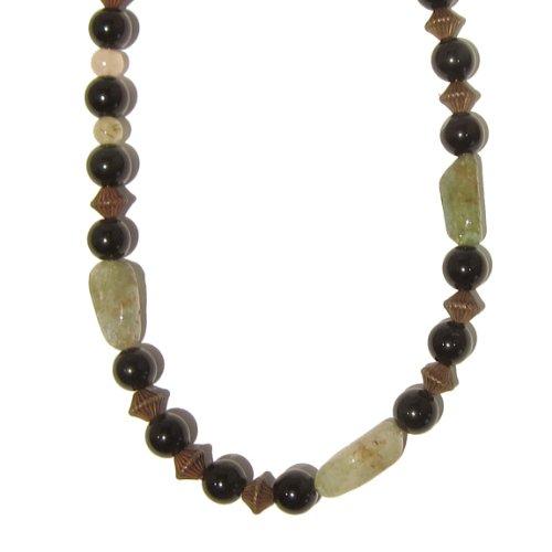 Obsidian Necklace 07 Beaded Prehite Quartz Black Rainbow Green White Crystal Healing Reiki Energy Gem 19