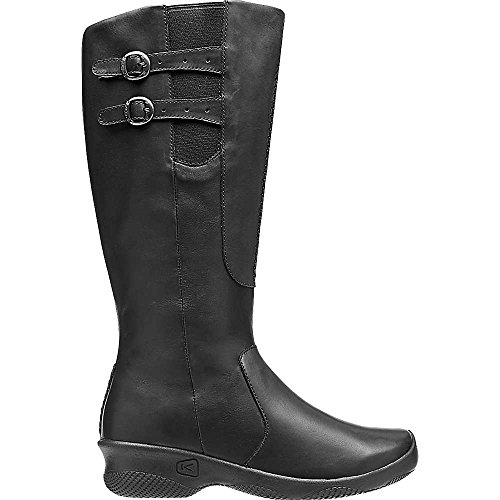 KEEN Women's Bern Baby Bern Casual Boot, Stark Black, 8.5 M US