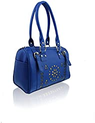 ZEPPAR BLUE SYNTHATIC LEATHER LADIES HAND BAG LADIES HAND BAG