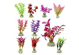 Eijin 10 Pcs Artificial Aquarium Fish Tank Water Plant Plastic Decoration Ornament (Random Color )
