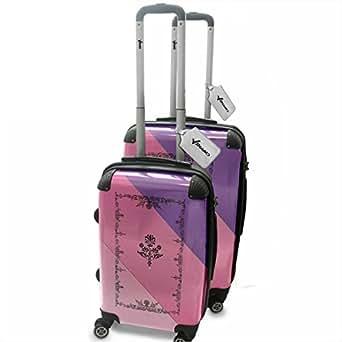 Amazon.com: Melody 10006, Retro, 2 Piece Lightweight Hard Case Luggage