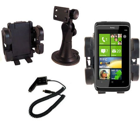 New-tech Car Windscreen mount holder cradle + Car Charger for HTC 7 Mozart, HTC 7 Pro, HTC 7 trophy, HTC ChaCha, HTC Desire HD, HTC Desire S, HTC Desire Z, HTC Gratia, HTC HD7, HTC Incredible S, HTC Legend, HTC Salsa, HTC Sensation, HTC Wildfire S