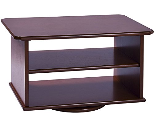 tv-swivel-stand-2-tier-furniture-media-storage-shelving-wooden-mahogany-brown