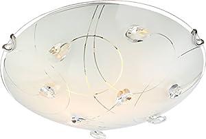 globo 40414-2 E27 40 Watt Alivia Ceiling Lamp Nickel Matt by globo
