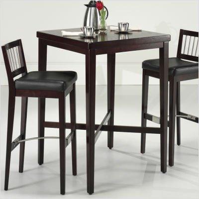 "Cherry Pub Table (Cherry) (42.25""H x 30""W x 30""D)"