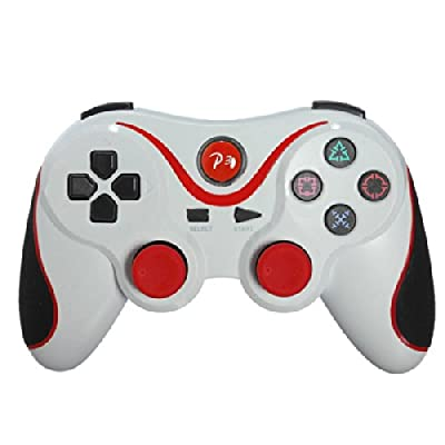 Wireless Bluetooth Gamepad Controller for Sony Playstation 3 PS3 White Red by Beautymall